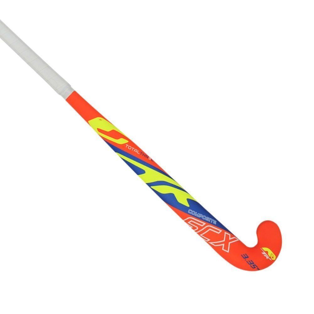 2017/18 TK Total Three SCX 3.3 Junior Hockey Stick - Orange/Royal/Lime