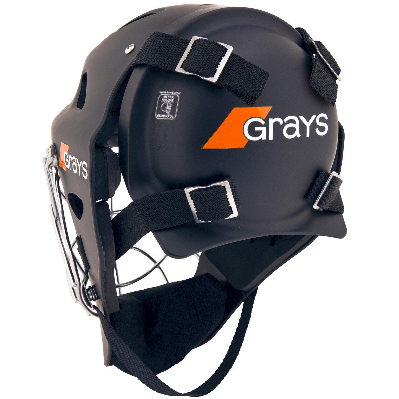 Grays G600 Goalkeeper Hockey Helmet - Black/Chrome