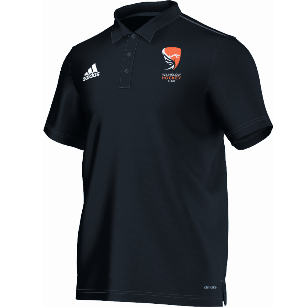 Wilmslow Hockey Club Black Adidas Polo Shirt