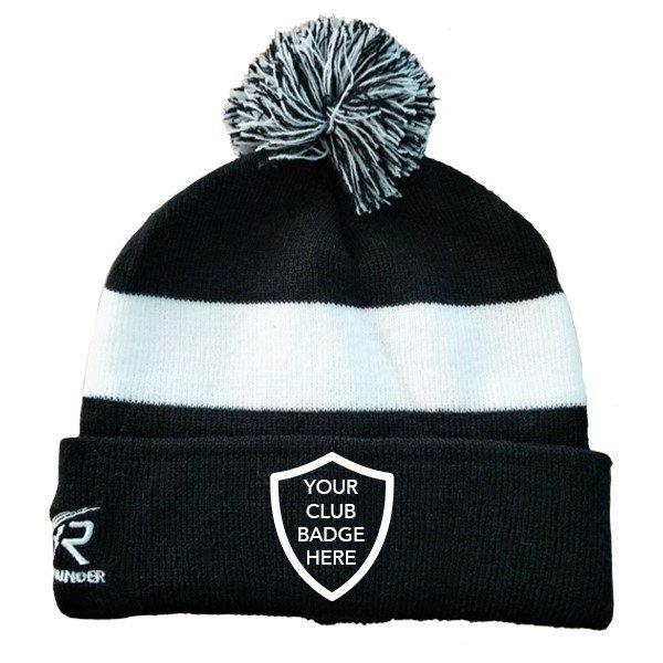 Kirkby Lonsdale Hockey Club Black AR Bobble Beanie