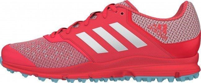 ... 2016 17 Adidas Zone Dox W Hockey Shoes - Shock Red ... 0a4e4178b