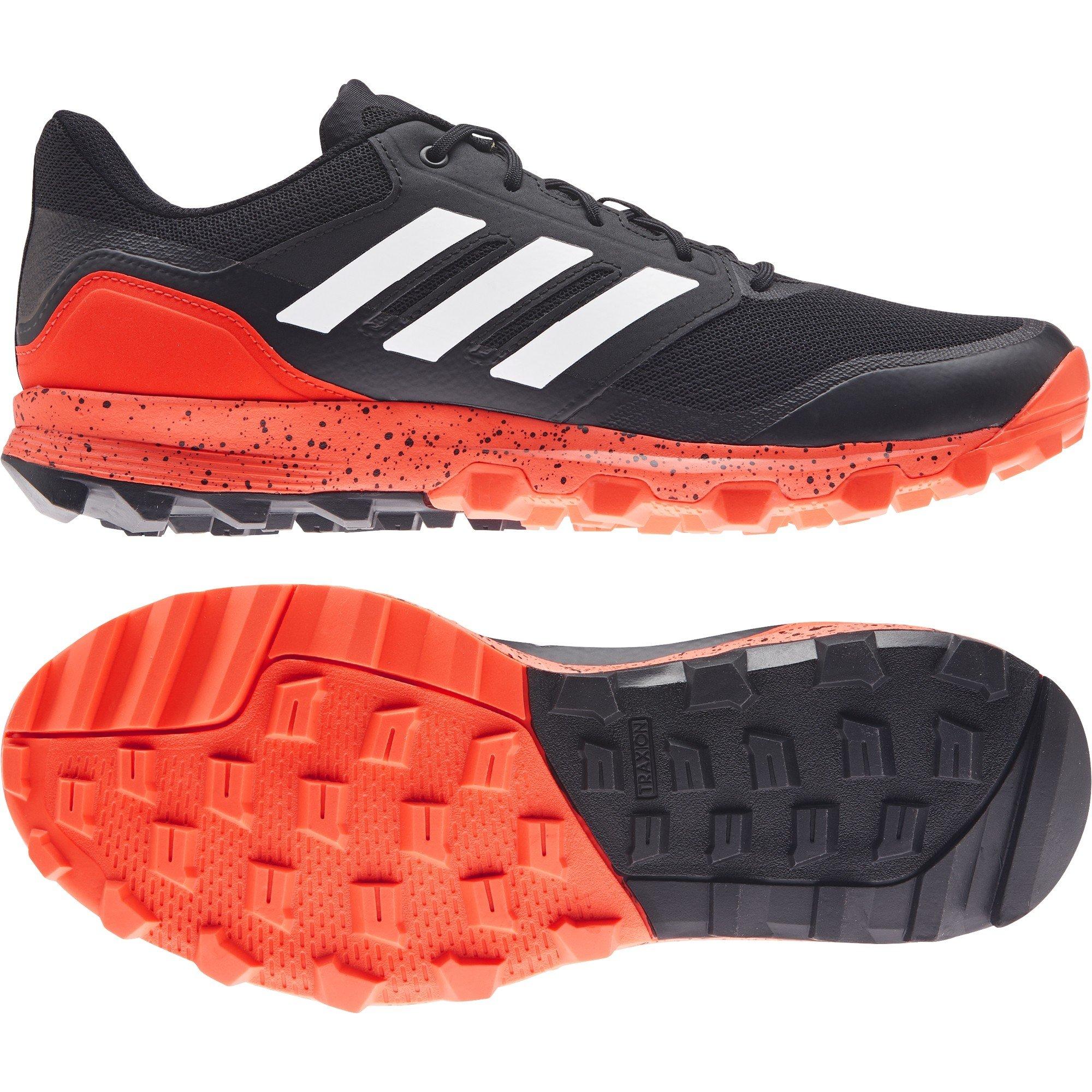 2021/22 Adidas Flexcloud 2.1 Hockey Shoes - Black/Orange
