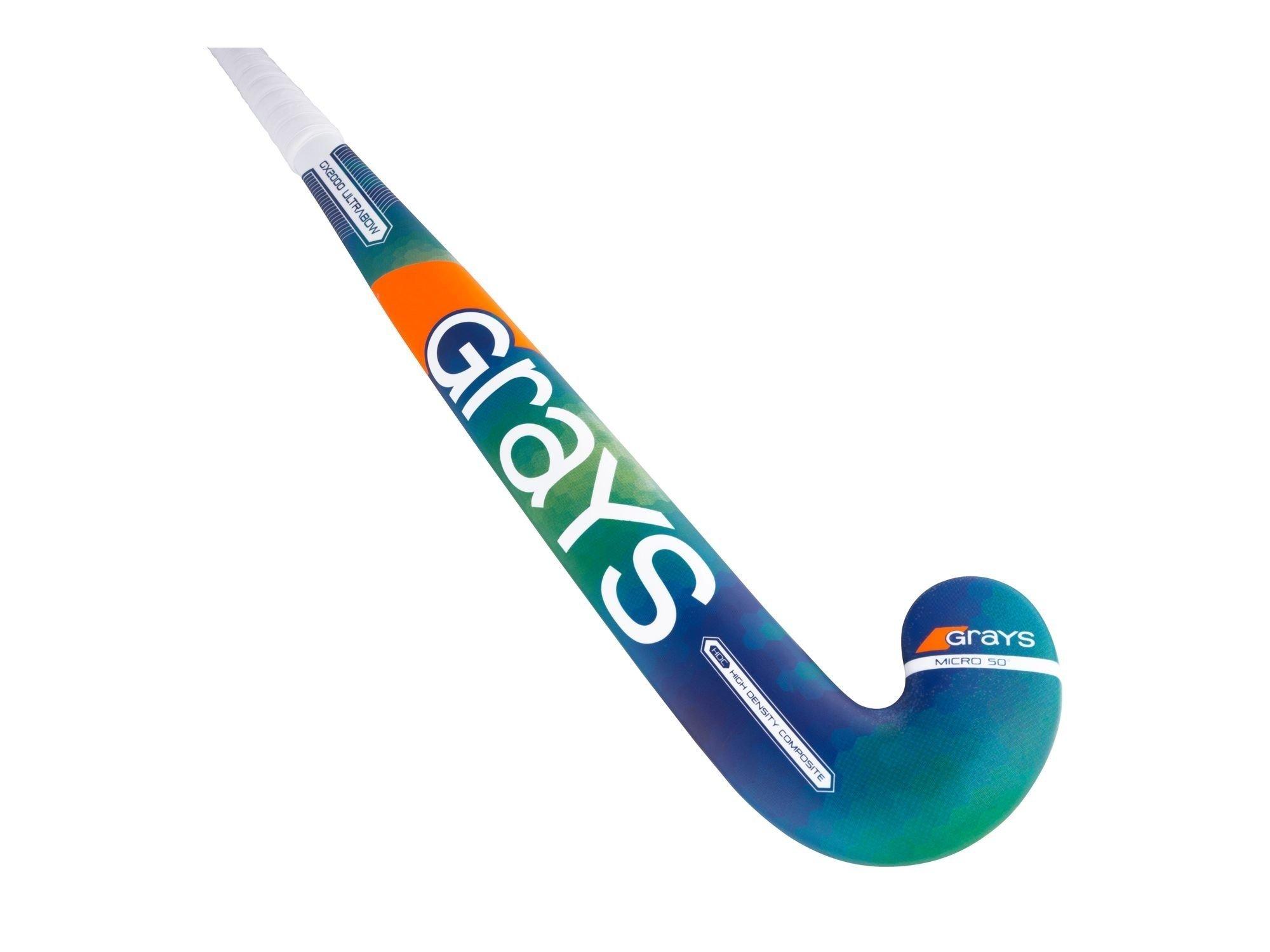 2017/18 Grays GX 2000 Ultrabow (Blue / Green) Junior Hockey Stick