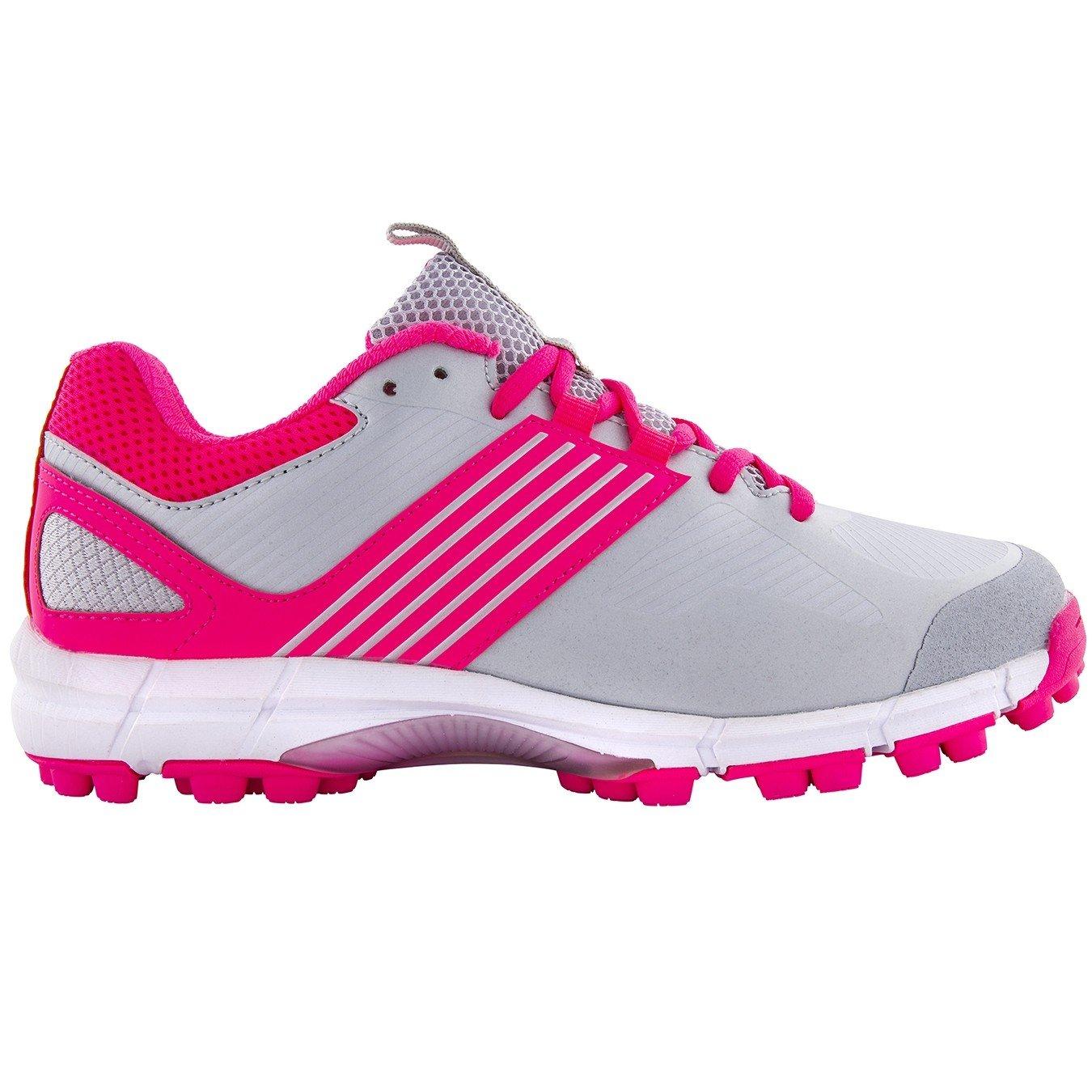 Grays Flash II Silver/Pink Junior Hockey Shoes