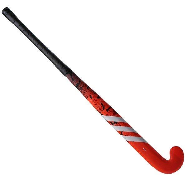 Adidas King .9 Junior Hockey Stick - Red/White