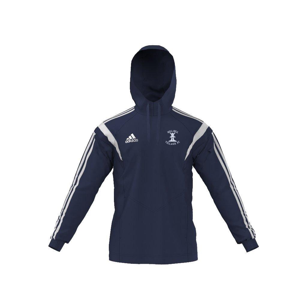 Mill Hill Village FC Adidas Navy Hoodie