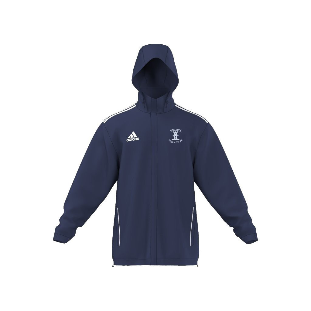 Mill Hill Village FC Adidas Navy Rain Jacket