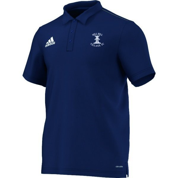 Mill Hill Village FC Adidas Navy Polo Shirt