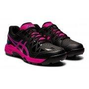 Asics Gel-Peake GS Junior Hockey Shoes - Black/Pink