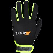 2020/21 Grays G500 Hockey Gloves - Black/Fluo Yellow