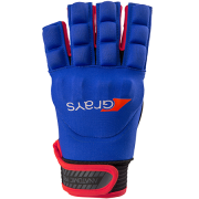 2018/19 Grays Anatomic Pro Hockey Glove - Navy/Fluo Red