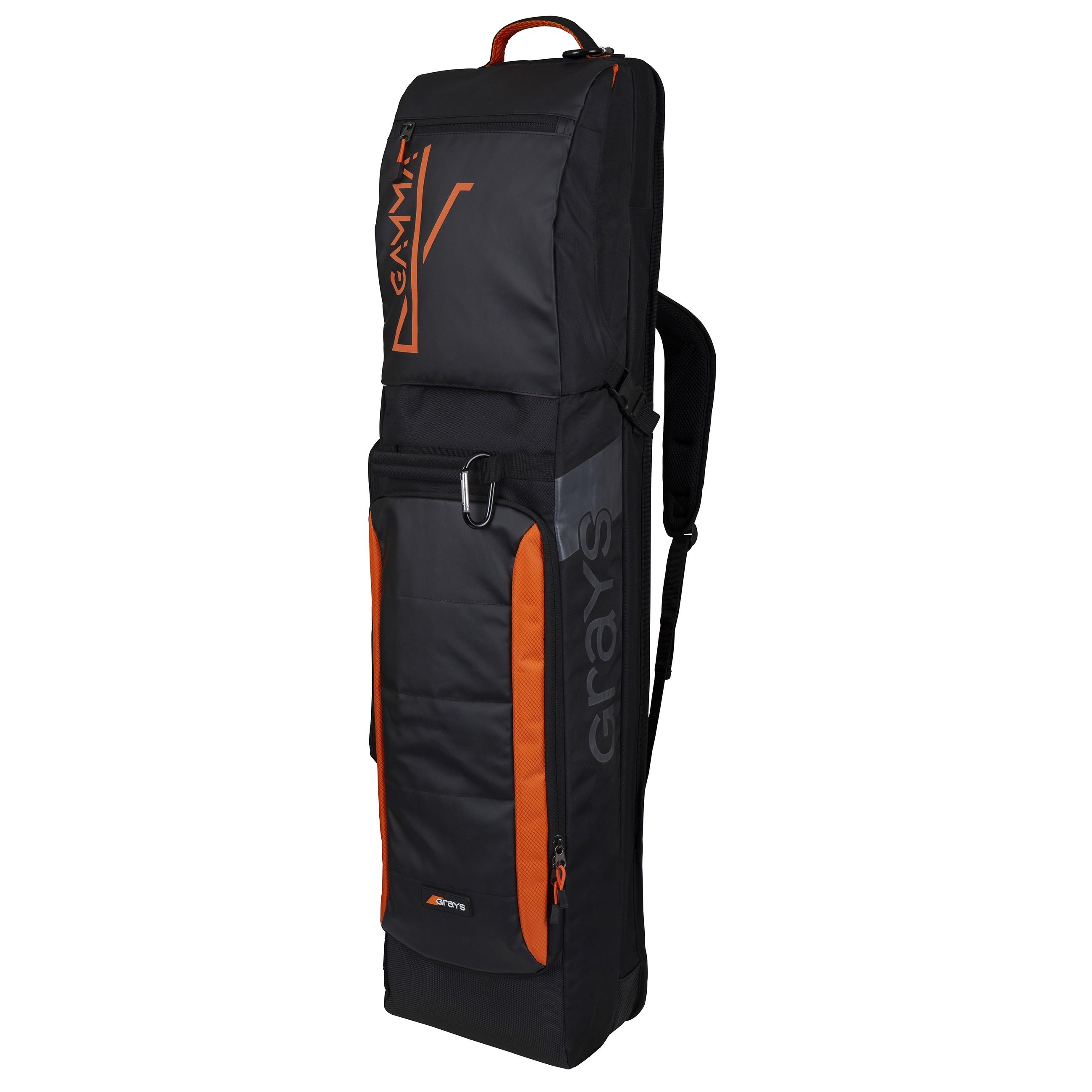 2021/22 Grays Gamma Hockey Kitbag - Black/Orange