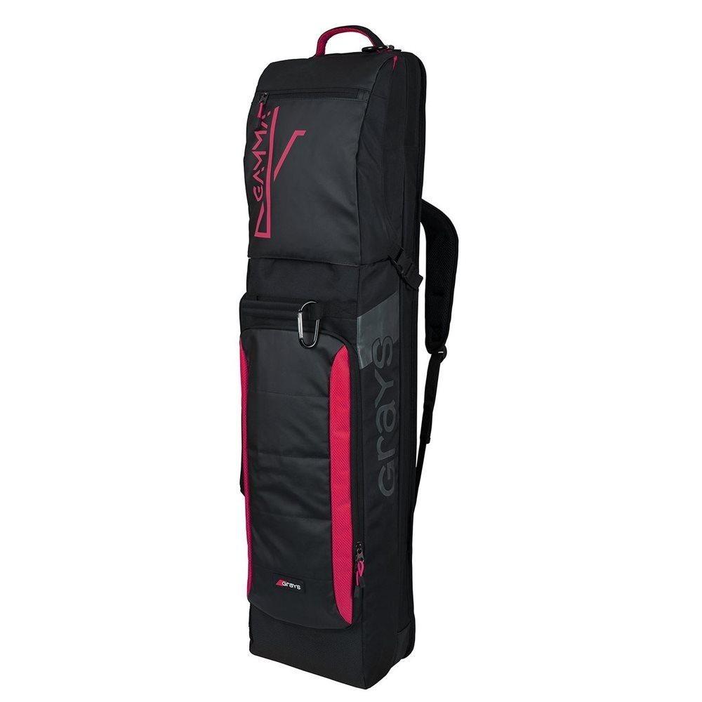2021/22 Grays Gamma Hockey Kitbag - Black/Pink