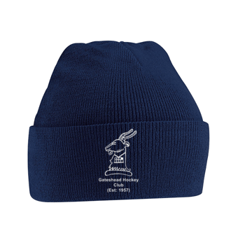 Gateshead Hockey Club Navy Beanie