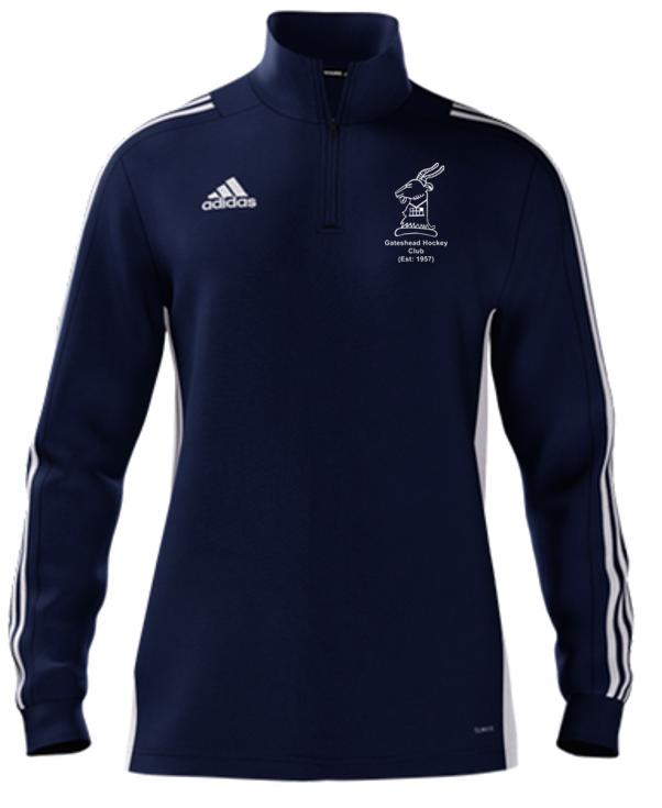 Gateshead Hockey Club Adidas Navy Zip Training Top