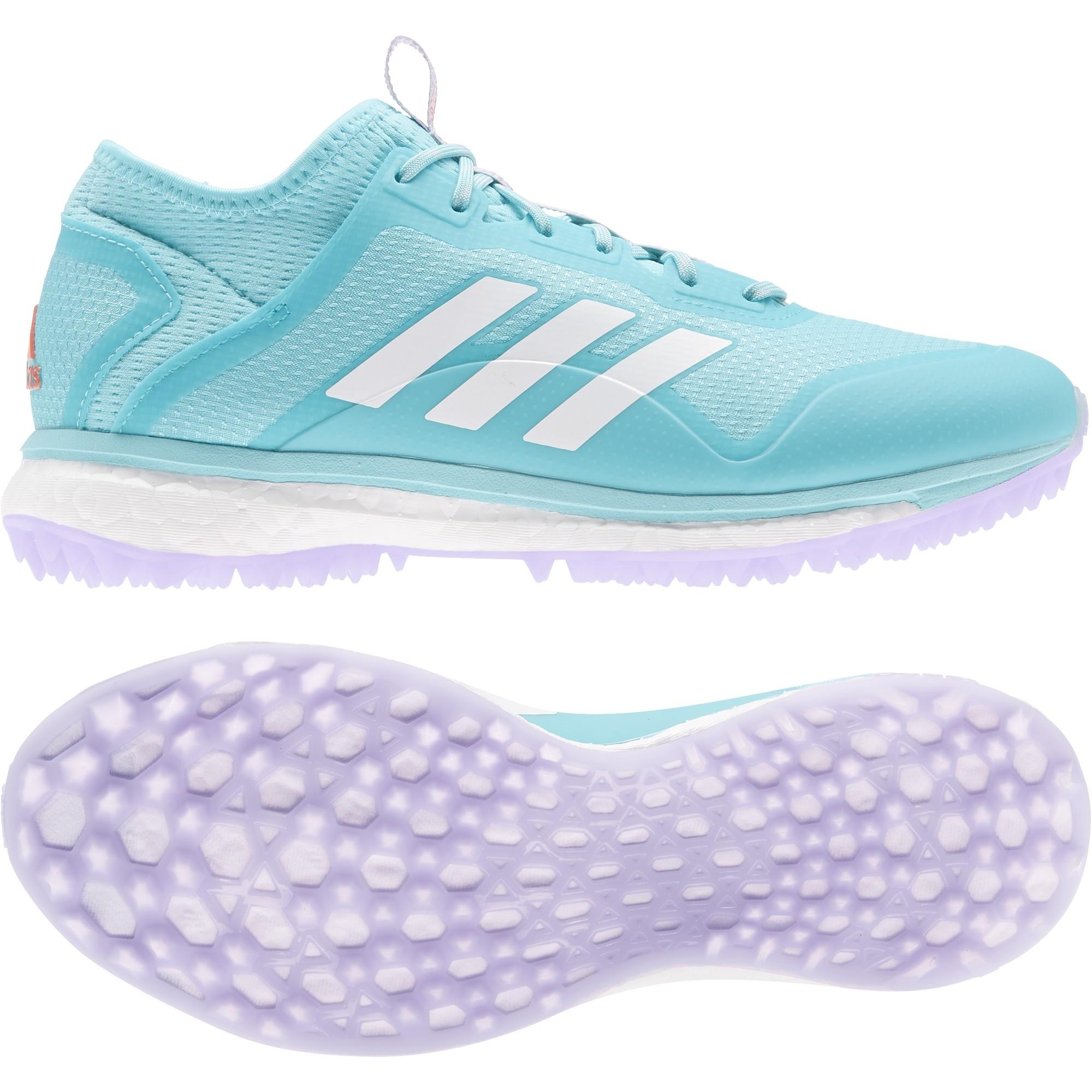2021/22 Adidas Fabela X Empower Hockey Shoes - Aqua/White
