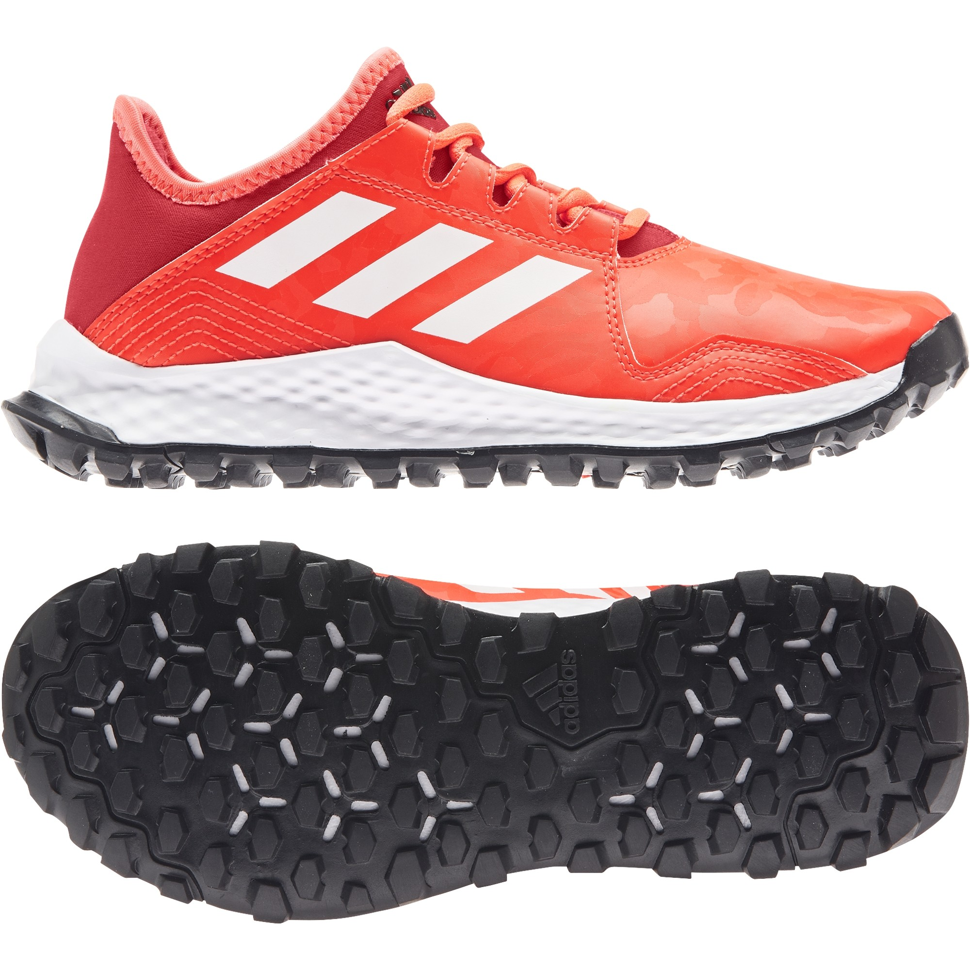 2021/22 Adidas Youngstar Hockey Shoes - Red/White