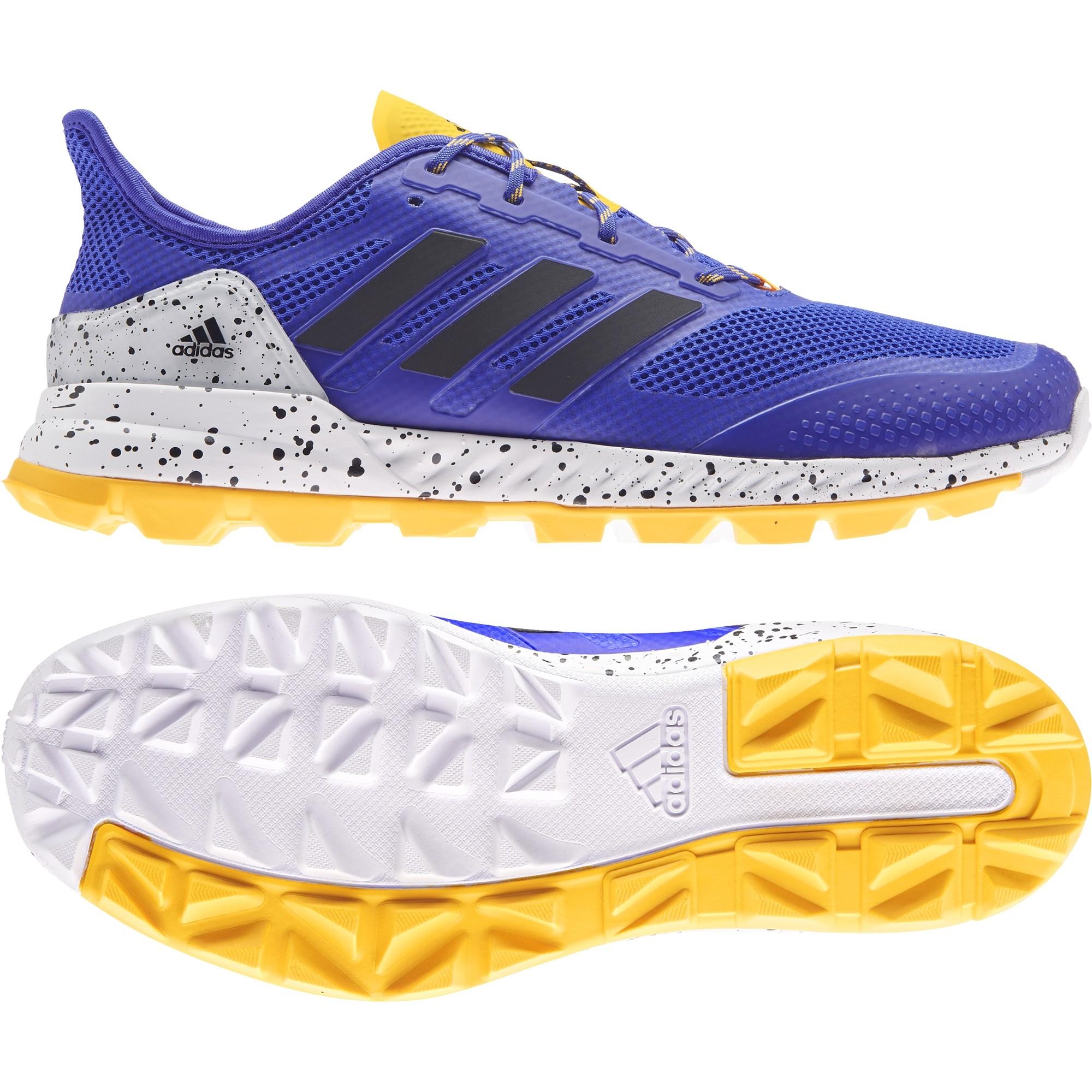 2021/22 Adidas Adipower 2.1 Hockey Shoes - Blue/White/Yellow