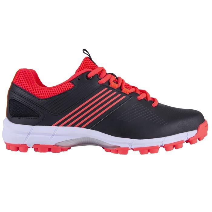 2021/22 Grays Flash 2.0 Junior Hockey Shoes - Black/Hot Red